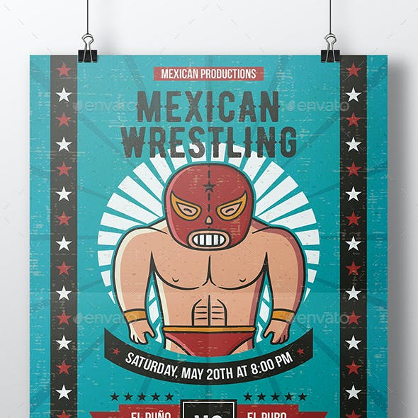 Lucha Libre Flyer Template