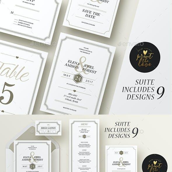 Wedding Invitation Suite - Elena