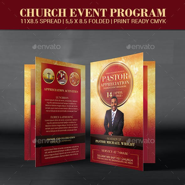 Pastor Appreciation Church Event program