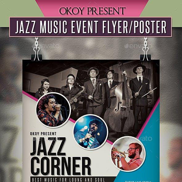Jazz Music Event Flyer / Poster
