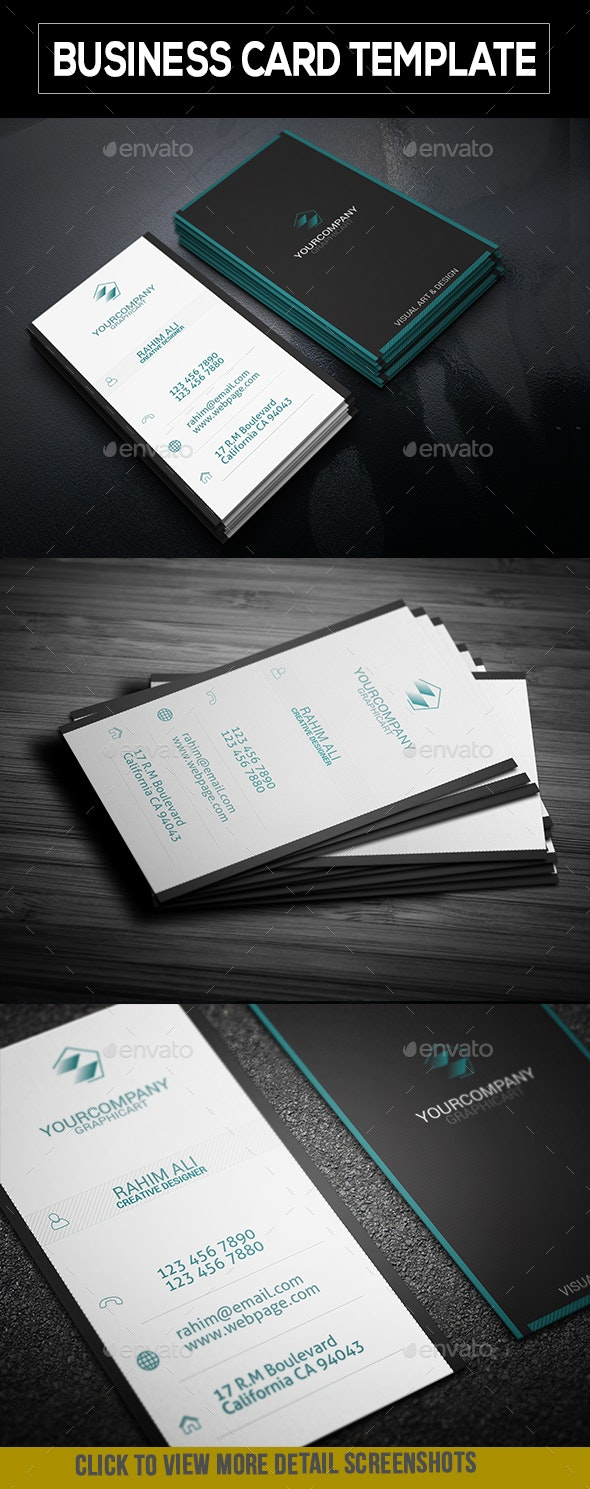 Modern Varetical Business Card 001 - Corporate Business Cards