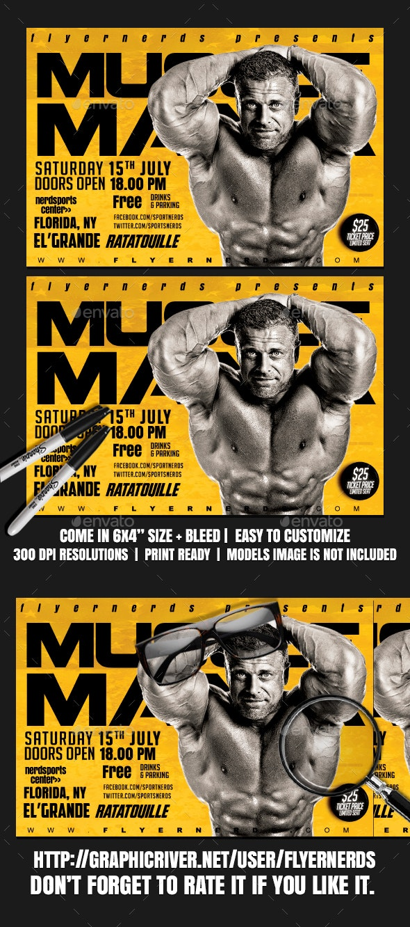 Muscle Mania Sports Flyer - Sports Events