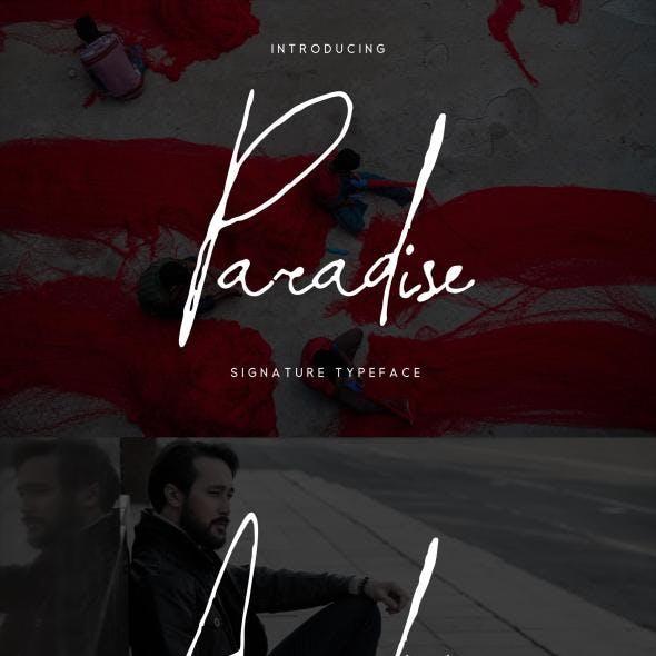 Paradise | Signature Typeface