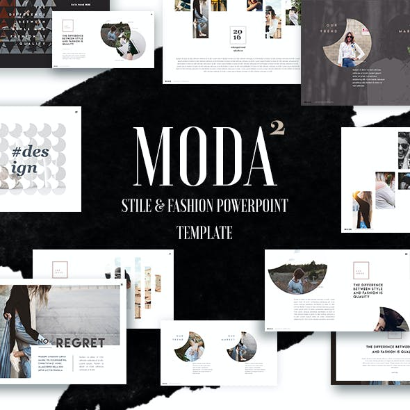 Fashion and Style Powerpoint Template (Moda 2)