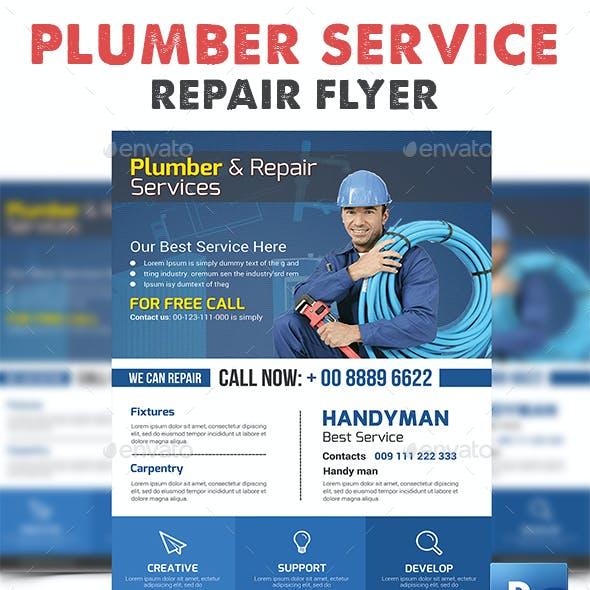 Plumber Service Flyer Print Templates