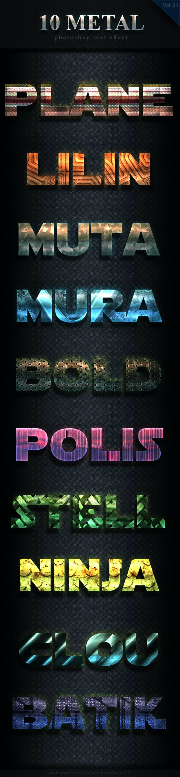 10 Metal Bold Text Effect Vol 3 - Text Effects Styles