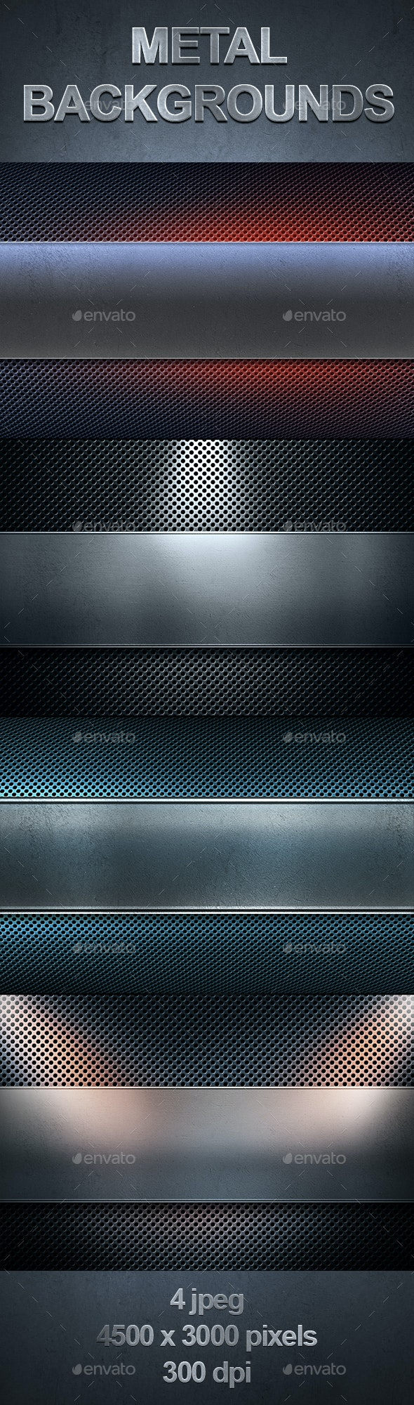Perforated Metal Sheet with Polished Metal Plate Banner - Urban Backgrounds