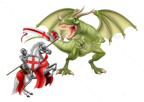 Saint George Fighting the Dragon - Animals Characters