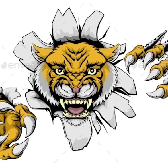 Mean Wildcat Mascot