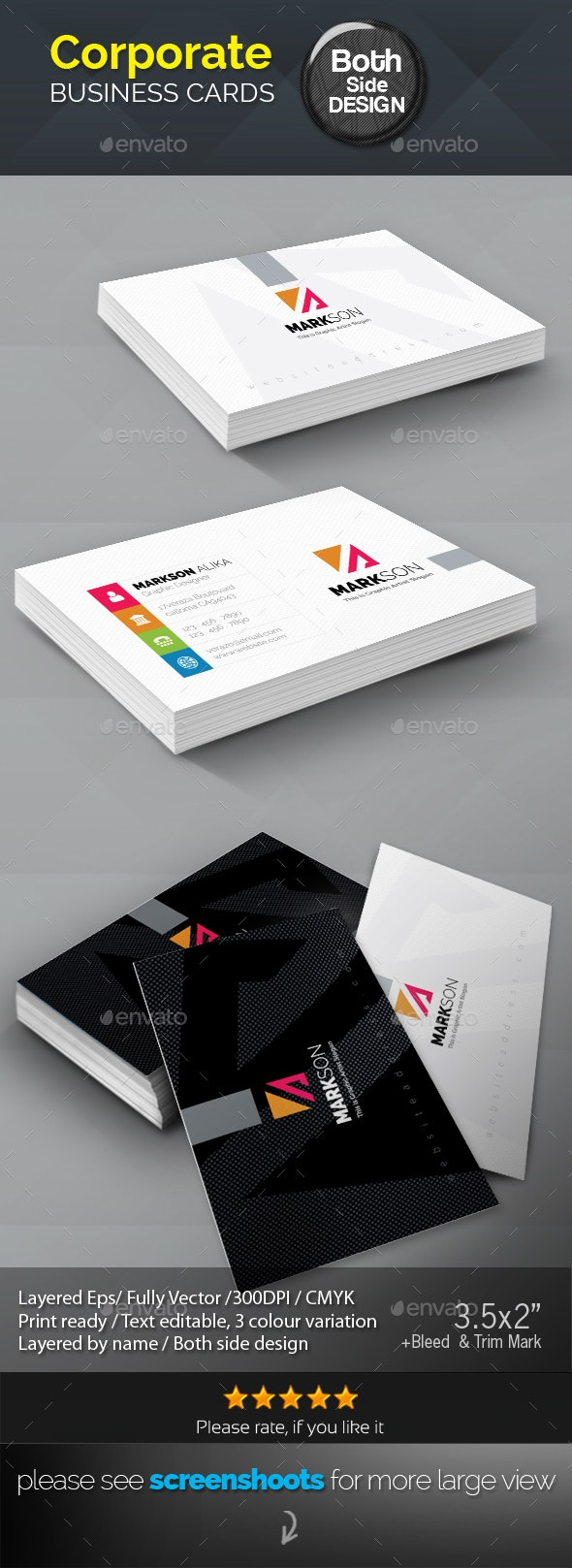 Markson_Corporate Business Card - Corporate Business Cards