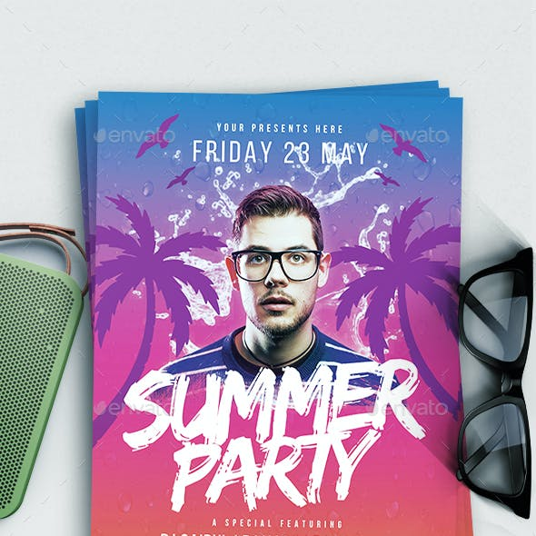 Summer party Flyer vol.7 by lilynthesweetpea