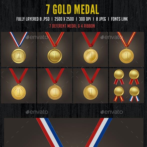 7 Gold Medal Set