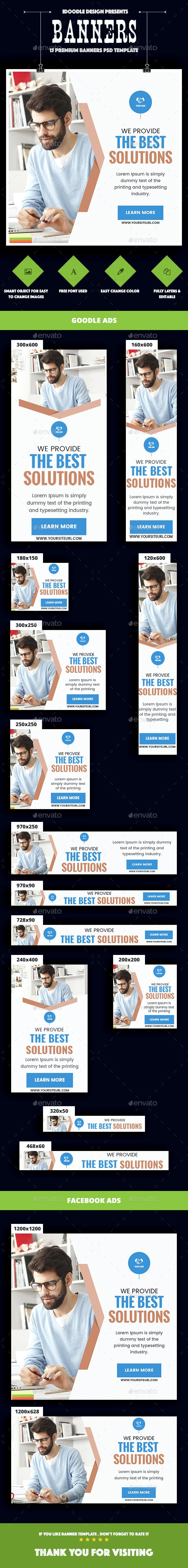 Multipurpose, Corporate, Business Banners Ad - Banners & Ads Web Elements