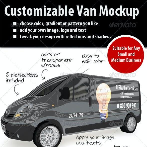 Customizable Van Mockup