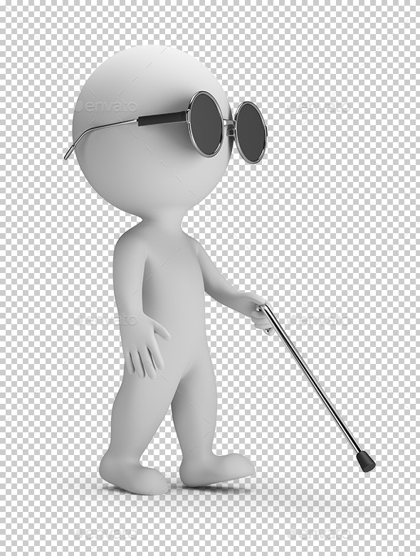 3D Small People - Blind - Characters 3D Renders