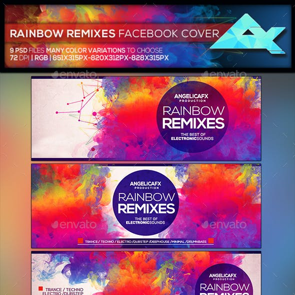 Rainbow Remixes Facebook Cover