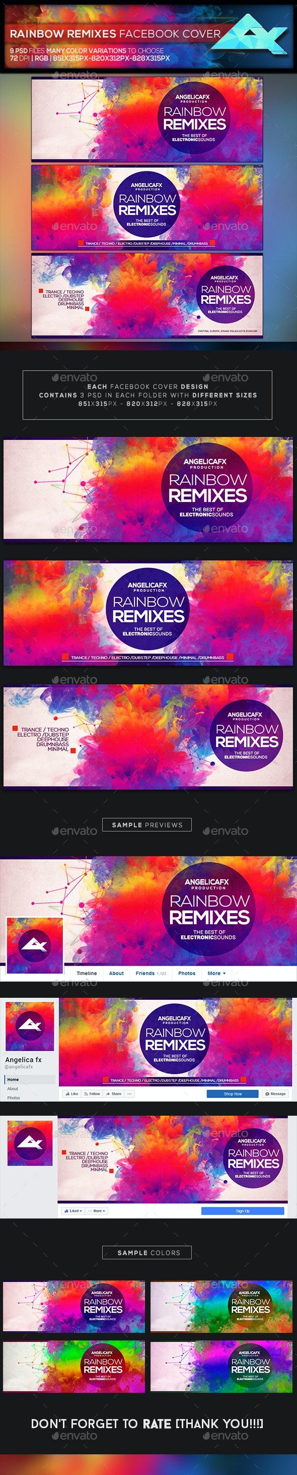Rainbow Remixes Facebook Cover - Facebook Timeline Covers Social Media