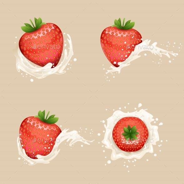Cream Milk Splash Strawberry
