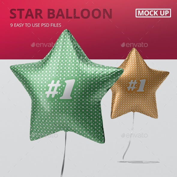 Star Balloon Mockup
