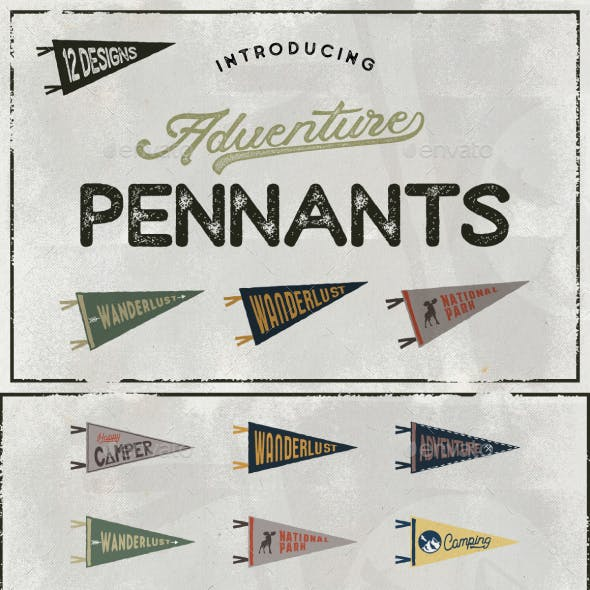 Vintage Pennants Set   Part 2