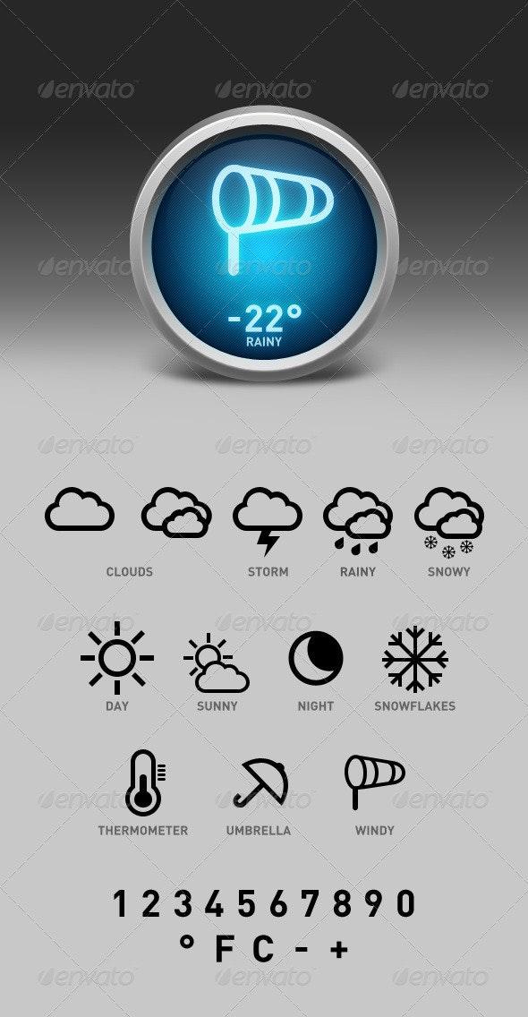 Weather Widget Interface - User Interfaces Web Elements