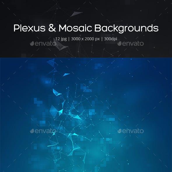 Plexus & Mosaic Backgrounds