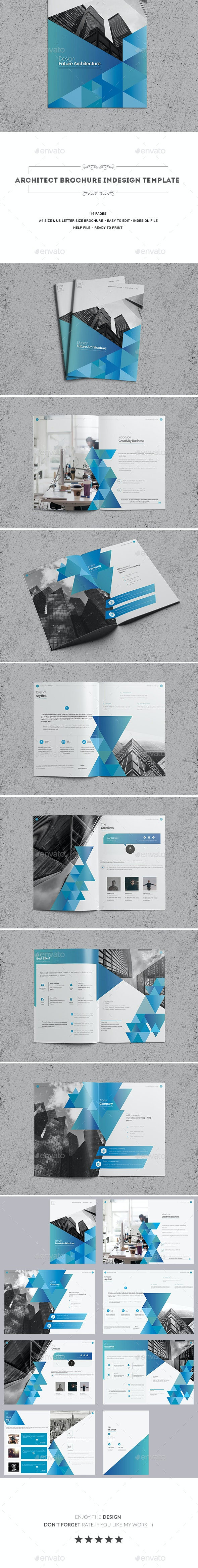 Architect Brochure Indesign Template - Brochures Print Templates