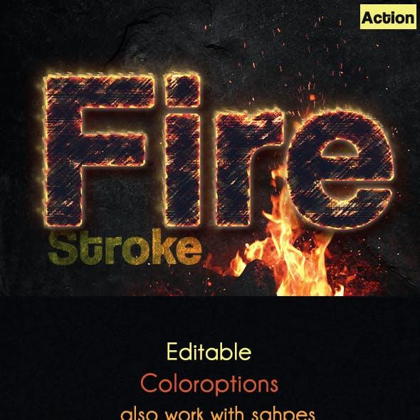 Fire Stroke Text Effect