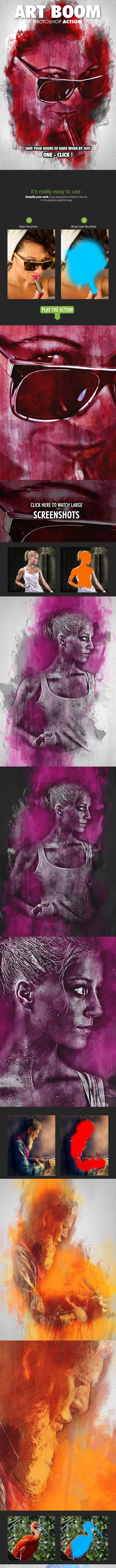 Art Boom Photoshop Action - Photo Effects Actions