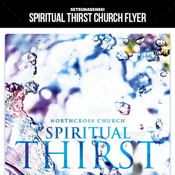Spiritual Thirst Church Flyer