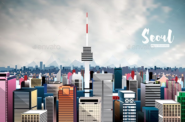 Seoul City Skyline. - Buildings Objects