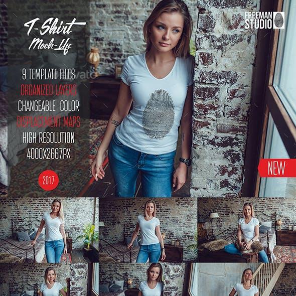 T-Shirt Mock-Up Vol.4 2017