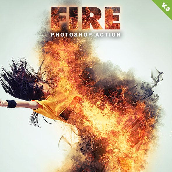 Fire Photoshop Action V.3