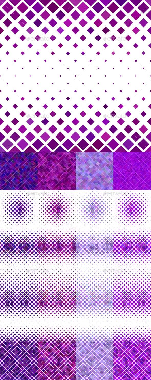 24 Purple Square Patterns - Patterns Backgrounds
