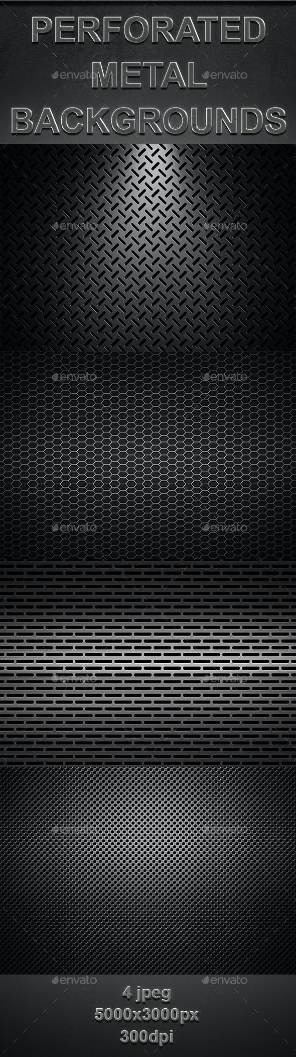 Perforated Metal Textures - Urban Backgrounds
