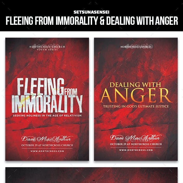 Fleeing from Immorality & Dealing with Anger Church Flyer