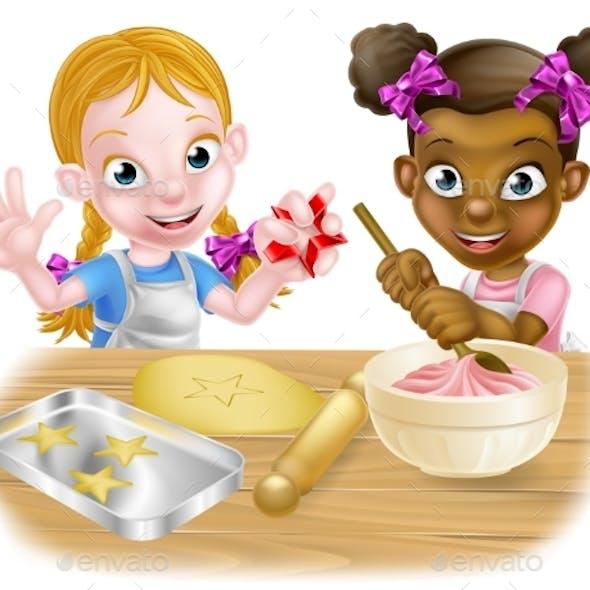 Girls Baking Cakes