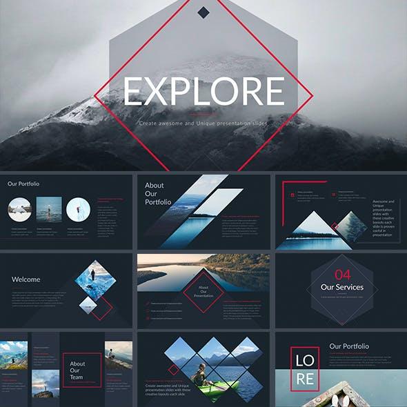 Explore - Keynote Presentation Template