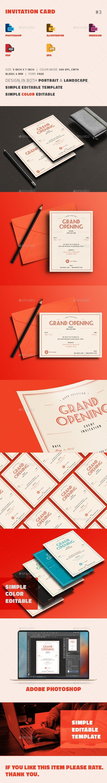 Invitation Card - Cards & Invites Print Templates