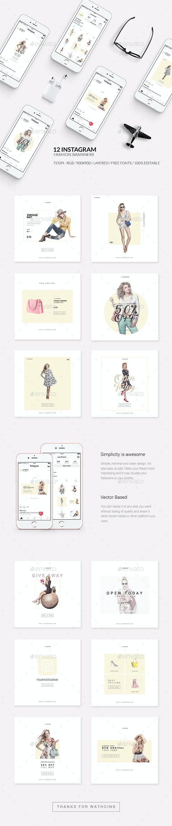 Fashion Instagram Promotional Template - Web Elements
