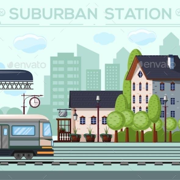 Suburban Railway Station City Life Design