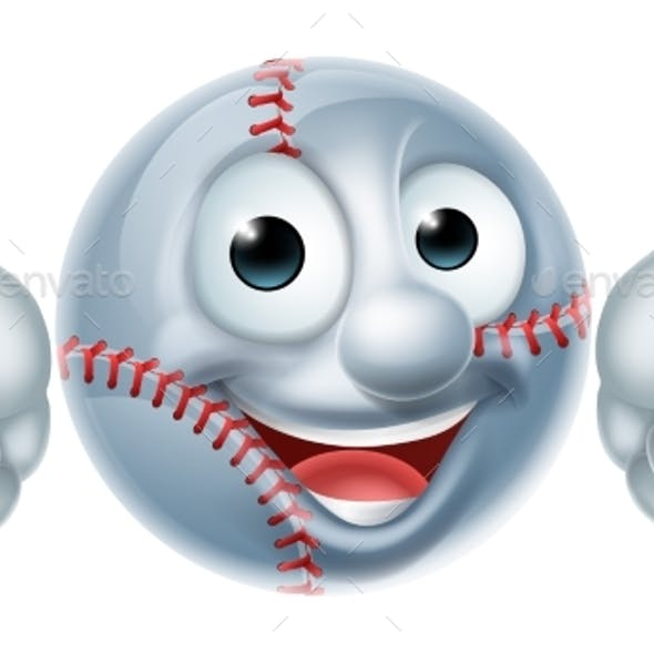 Cartoon Baseball Character