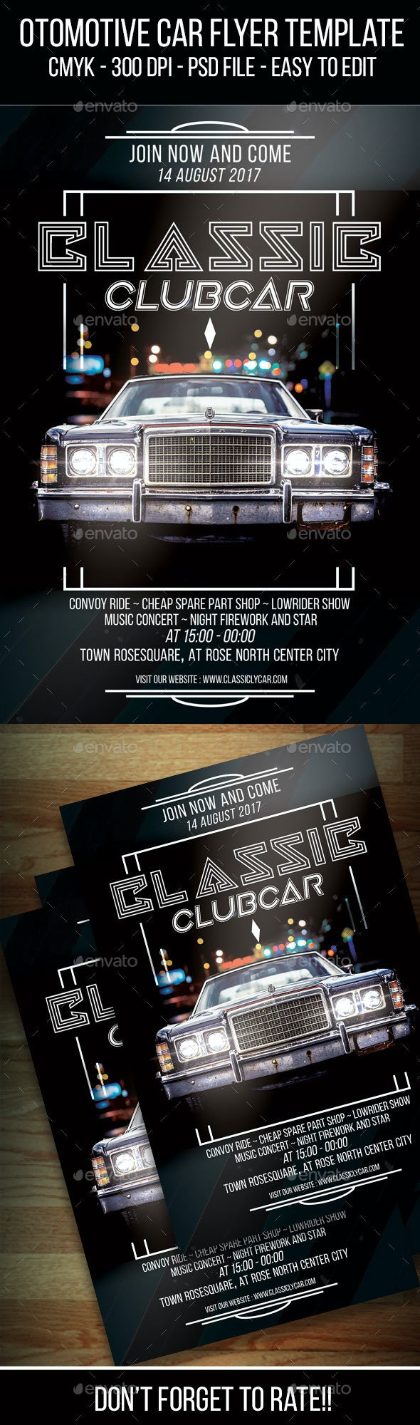 Ottomotive Car Flyer Template - Clubs & Parties Events