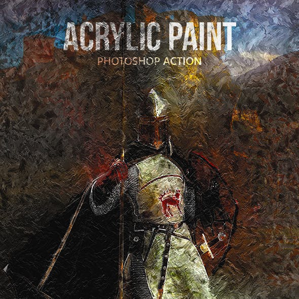 Acrylic Paint - Photoshop Action