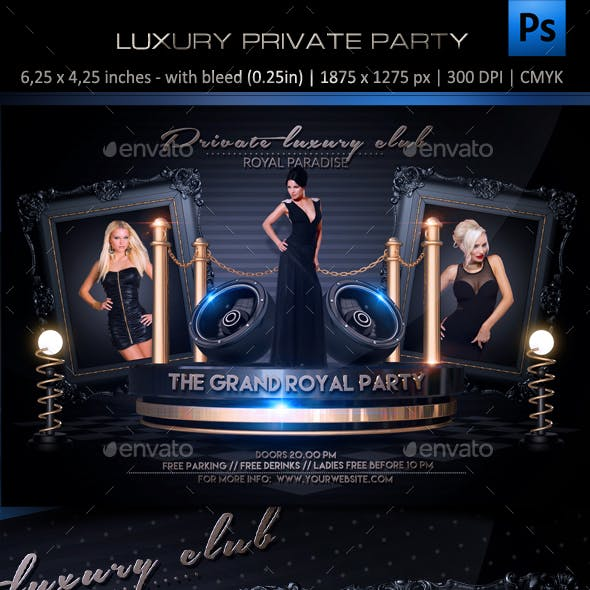 Luxury Private Party Flyer