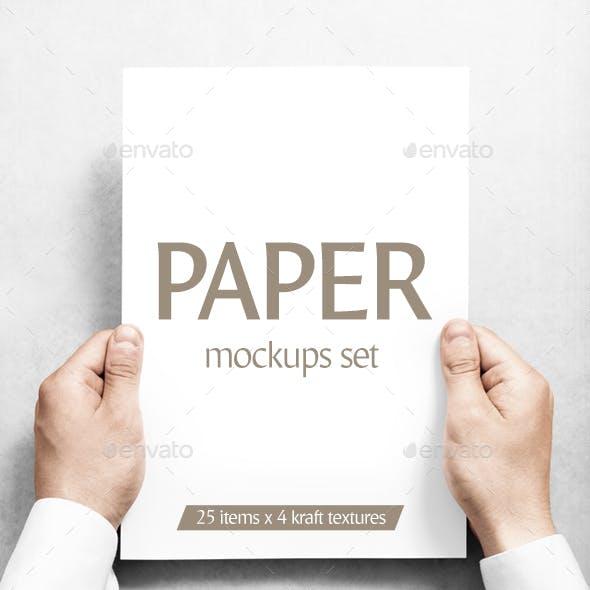 Paper Mockups Set