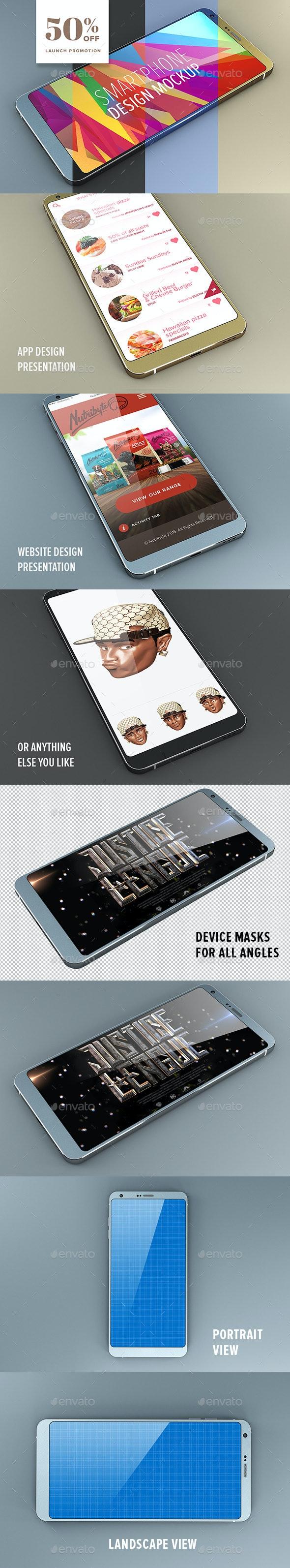 Android Smartphone Design Mockup - Mobile Displays