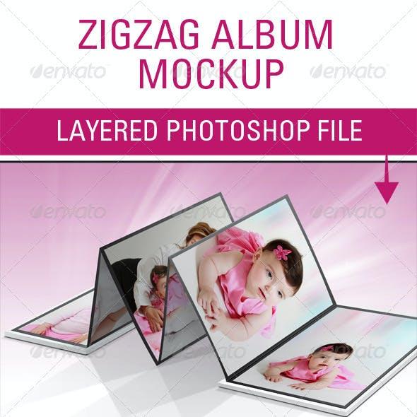 Zigzag Album Mockup
