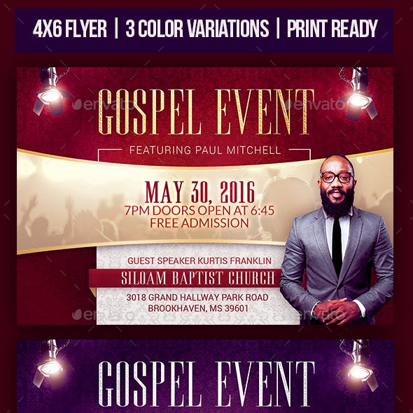 Gospel Event Church Flyer