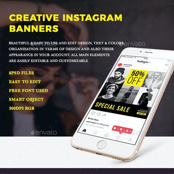 Creative Instagram Post Banners
